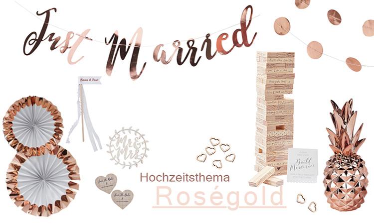 Mr und Mrs Girlande rosé gold