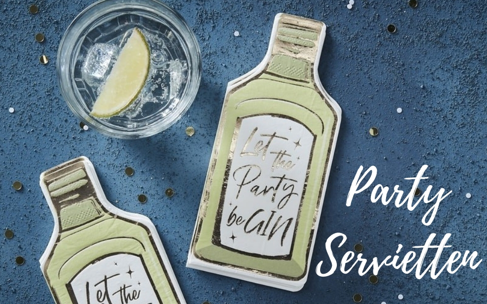 Partyservietten Let the party be GIN 12er Set Weihnachten